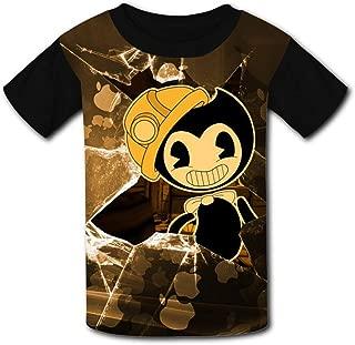 QIANBAIHUI Kids Youth Cute Bendy 3D Printed Short Sleeve T-Shirt Tees