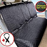 Vailge Bench Dog Car Seat Cover for Back Seat, 100% Waterproof Dog Car Seat Covers, Heavy-Duty Nonslip Back Seat Cover for Dogs, Washable Compatible Pet Car Seat Cover for Cars SUVs (Standard, Black)