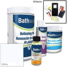 BATHWORKS DIY Bathtub & Tile Refinishing Kit w/Non-Slip (WHITE)