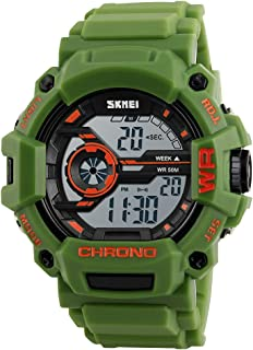 Digital Watch for Men, Waterproof Military Watch with Calendar Chronograph Alarm Backlight Function, Sports Running Wrist Watch for Men Boys