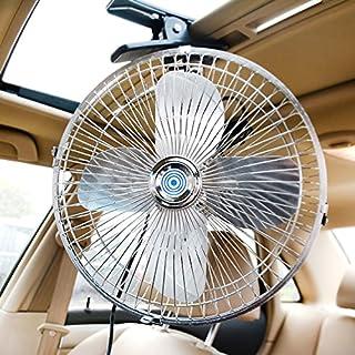 etshws voiture fans 12v 24v gros camions les ventilateurs les voitures les petits ventilateurs secouer les chefs vitesse et muet,blue//8 pouce//24v