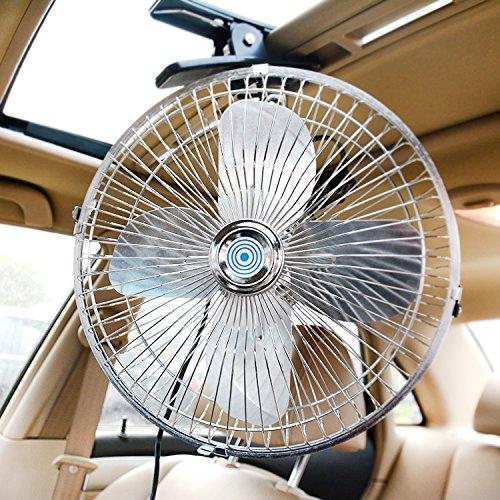 Los ventiladores del coche 12V 24V camiones grandes ventiladores coches coches pequeños ventiladores sacudiendo la cabeza velocidad y mudo. Metal/10 de pulgada/24V