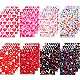 Zonon 24 Pieces Mini Valentines Day Notepads, Mini Tiny Heart Notepads Spiral Notebooks Teacher Student Classroom Rewards Favor Supplies for Girls Boys School Valentines Day Party Decoration Favors