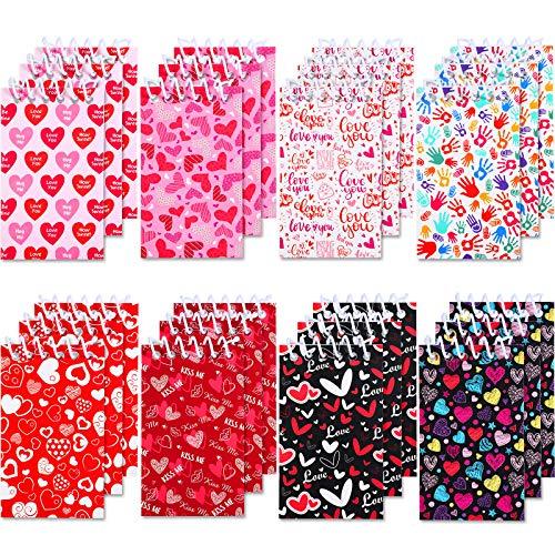 24 Mini Notebook di Valentine, Piccoli Mini Taccuini a Cuore Quaderni a Spirale Ricompense in Aula di Insegnante Studente Forniture di Favore per Ragazze e Ragazzi Decorazione Bomboniere
