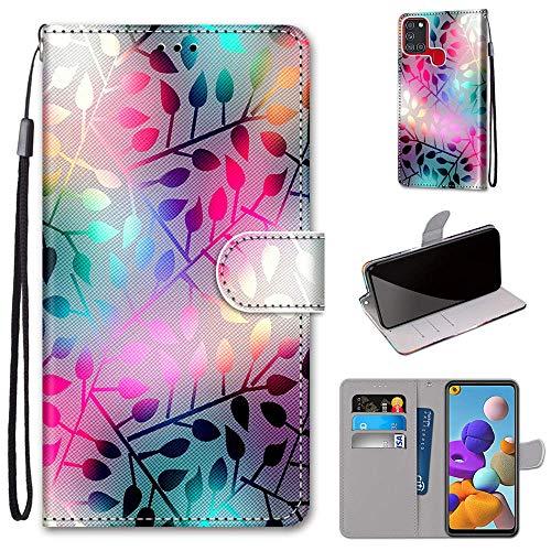 DICASI Custodia Samsung Galaxy A21s, Cover a Libro Samsung Galaxy A21s, Flip Caso in PU Pelle Premium Portafoglio Magnetica Custodia per Samsung Galaxy A21s
