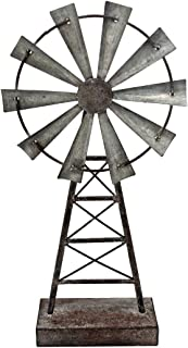 small metal windmill