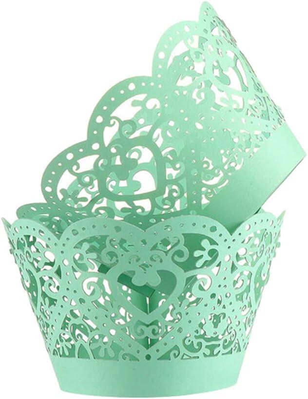 litymitzromq Decorative Cake Max 82% OFF Seattle Mall Paper Cups Tools 50Pcs Baking Hollo