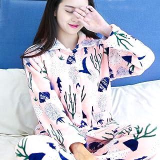 Pijamas para mujer pijama Dormir otoño pijamas mujer invierno coral terciopelo terciopelo de manga larga mujer pijama traje grueso cálido pijamas sexy pijamas servicio a domicilio pijamas para mujer