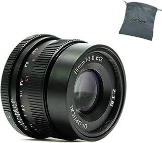 7artisans 35mm F2.0 Manual Focus Lens Full Frame for Leica Mirrorless Camera M Mount Leica M4P M6 M7 M8 M9 M9p M10 M240 M240P Me M262 M-M (Black)