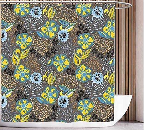Cortina de Ducha para baño Cortina Protectora contra Dot Blanco Redondo Redondo nostálgico Poco Kitsch 150*180cm diseño de decoración de baño Cortinas de Ducha Baño,Cortina de Ducha Color Blanc