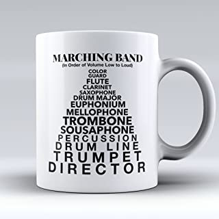 Marching Band Coffee Mug - Marching Band Coffee Cup - Funny Gift for Marching Band Members -Low To Loud - Best Present for Marching Band Members - 11oz