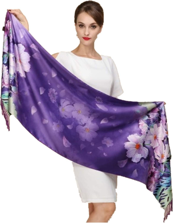 BUIOR Scarf Shanghai Story 100% Silk Thick Autumn Fall Winter Summer Scarves Female Beach Towel Floral Flower Scarves