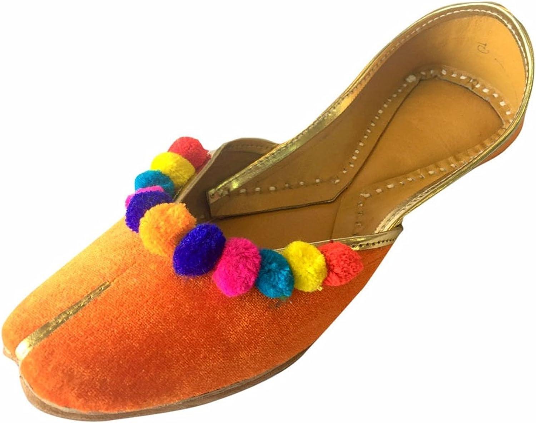Step n Style Women Flat Velvet Multiflower Khussa shoes Punjabi Jutti Handmade Mojari Loafer