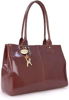 Catwalk Collection Handbags - Women's Large Vintage Leather Tote/Shoulder Bag - KENSINGTON