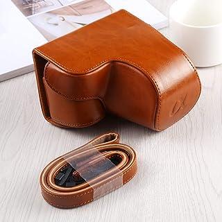 Bolsa de la cámara de protección de Cuero Caja por Completo del Cuerpo de la cámara de la PU Bolsa de Cuero con Correa for Sony A6400 / A6400-ILCE (Negro) WH (Color : Brown)