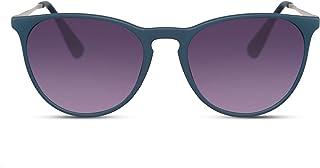 f0cff57aba Cheapass Gafas de Sol Negro Lentes Redondos Marrón Leo Vintage Mujer Hombre