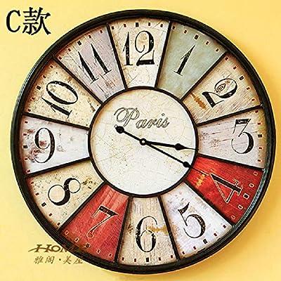 KAWEAZ 60CM Large Wall Clock Saat Clock Duvar Saati Reloj Vintage Home Decor Digital Wall Clocks