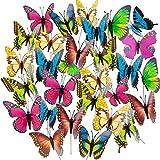 50 farfalle da giardino colorate, farfalle da giardino, su bastoncini, per prato, ornamenti da giardino, decorazione (colore casuale)