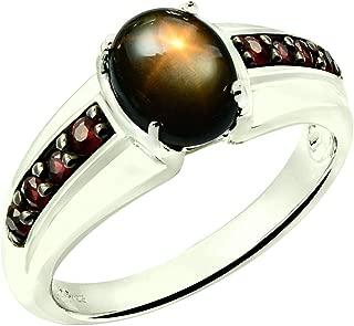 black star sapphire cabochon