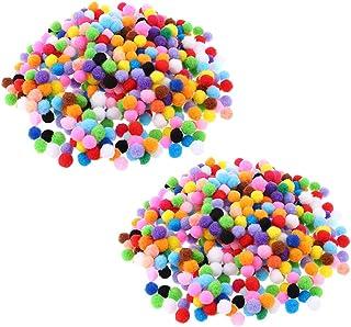 harayaa 1000 peças bolas de feltro de 15 mm bola de pompom para decoração de artesanato