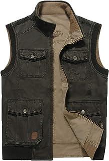 Men's Outdoor Fashion Reversible Outdoor Pockets Fishing Safari Travel Vest Jackets