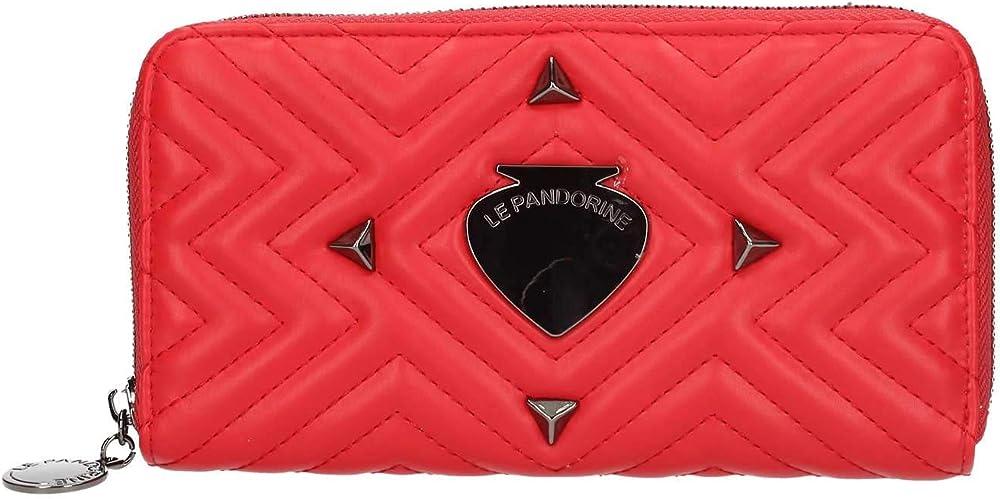 Le pandorine portafoglio da donna porta carte di credito in ecopelle LEP000083ROUN