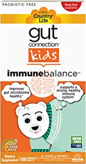 Country Life, Gut Connection Kids – Immune Balance, Improves Gut Microbiome Health and Supports a Healthy Immune System, 1...