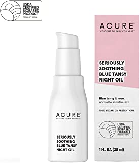 ACURE Seriously Soothing Blue Tansy Night Oil | 100% Vegan | For Dry to Sensitive Skin | Blue Tansy & Rose Oil - Antioxidant Rich, Soothes & Refreshes | 1 Fl Oz