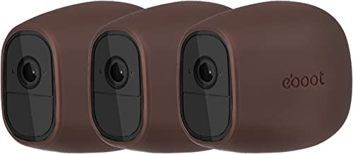 Silicone Skins Cover Protective Skin for Arlo Pro, Arlo Pro 2 Smart Security Wire-Free Cameras (3 Pack, Dark Brown)