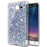 Kompatibel mit Galaxy Grand Neo Plus Hülle,Glänzend Bling Glitzer Diamant TPU Silikon Handy Hülle Tasche Silikon Case Durchsichtig Handyhülle Case Cover Schutzhülle für Galaxy Grand Plus i9082,Silber