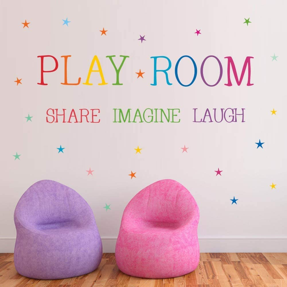 Sale SALE% OFF TOARTi Playroom Share Imagine Laugh Colorful Inspira Wall Decal Sales results No. 1