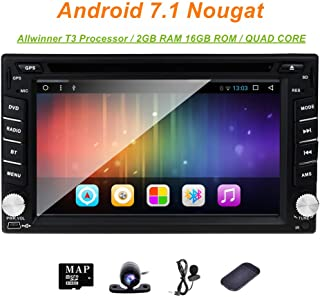 6.2 inch Universal Double 2 Din in Dash Touch Screen Car Stereo Navigation for Nissan Pathfinder 2005-2010 Frontier Sentra Versa Tiida Qashqai NV200 Android 7.1 Multimedia Player