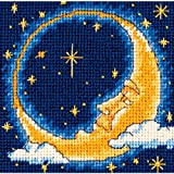 DIMENSIONS Needlepoint Kit, Moon Dreamer Needlepoint, 5'' W x 5'' H