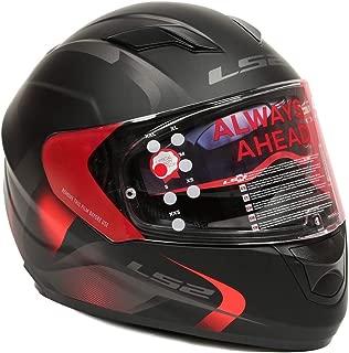 LS2 Helmets - FF320 – Stream – Velvet Matt Black Red Dual Visor Full Face Motorcycle Helmet (Size: L – 58 cm)