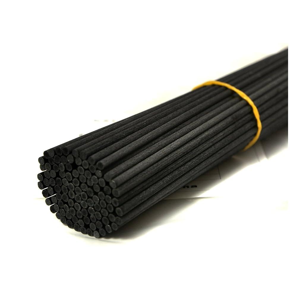 浜辺散らす薄める100本入アロマファイバーディフューザー交換用スティック(25cm*3mm,黒)