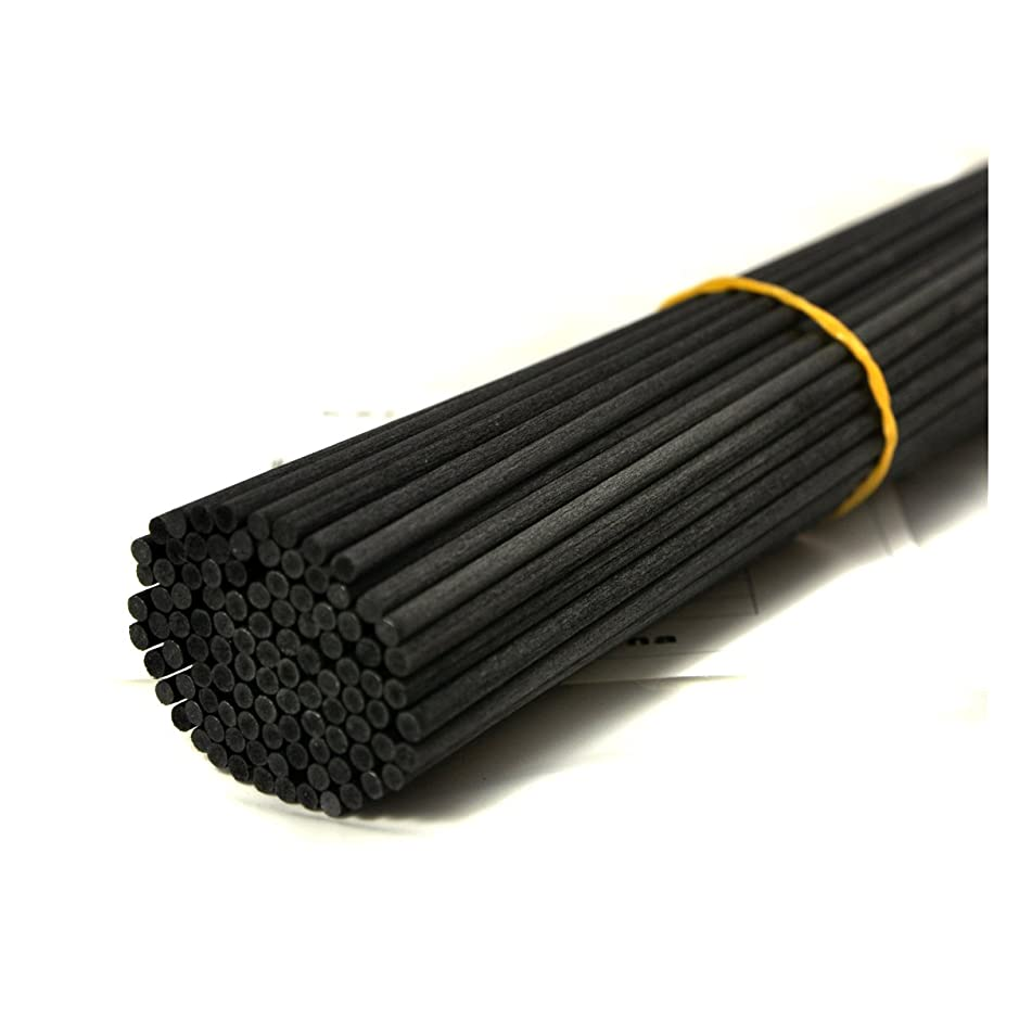 ダーリン集める電気100本入アロマファイバーディフューザー交換用スティック(30cm*3mm,黒)
