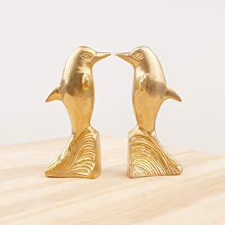 Set of 2 Dolphins || Vintage Solid Brass Figurine