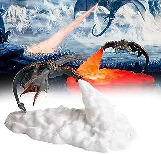 SZSCUTE 3D Print Dragon Shape Night Light, Bedroom Bedside Atmosphere Lamp, Soft Light Eye Protection USB Rechargeable, Christmas Halloween Birthday Gifts for Kids Boys (Dragón de Fuego)