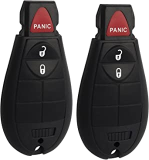 $25 » 3 Button Entry Keyless Key Fob Compatible for Dodge Challenger, Charger, Grand Caravan, Chrysler 300, RAM 1500 2500 3500 K...