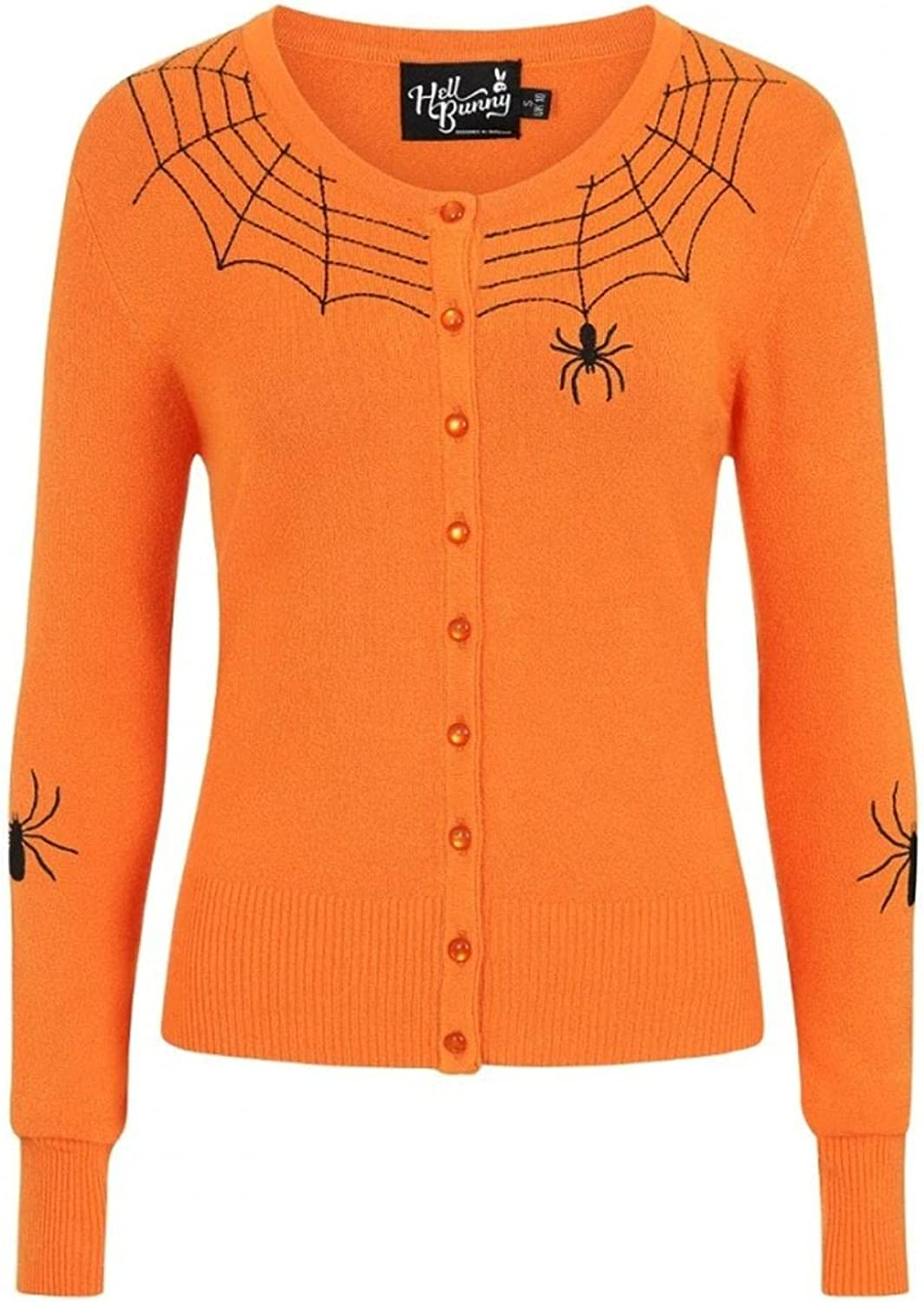 Hell Bunny Spider Vintage Style Retro Long Sleeve Sweater Cardigan