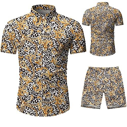 SSBZYES Camicie da Uomo Camicie a Maniche Corte da Uomo Pantaloncini a Maniche Corte da Uomo Pantaloncini a Cinque Punte Mimetici Freschi a Maniche Corte da Uomo Abiti Casual