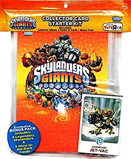 Skylanders Giants Topps Exclusive Collector Card Starter Kit with Exclusive Bonus Pack Legendary & Glow in The Dark Cards