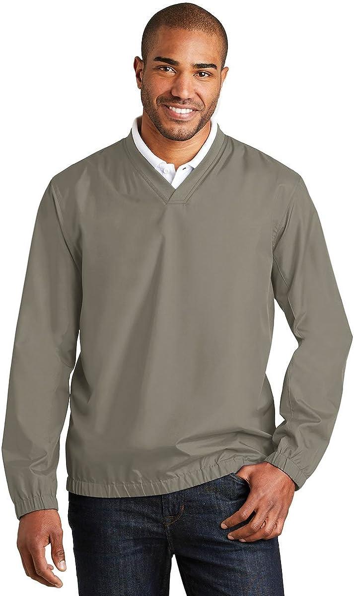 Port Authority Zephyr V-Neck Pullover, Stratus Grey, X-Small