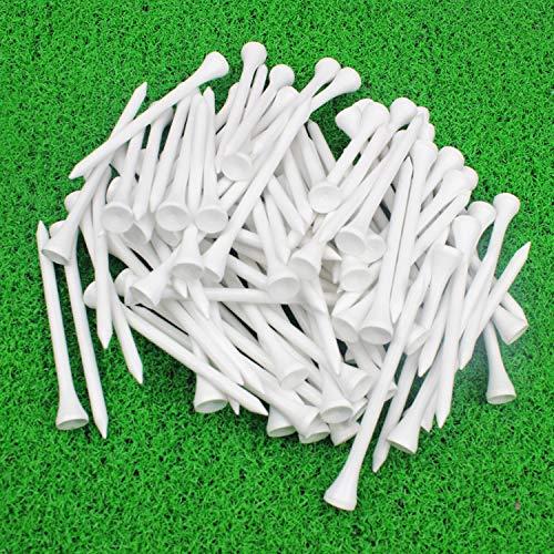 MYKUJA Bamboo Golf Tee 3-1/4 inch Pack of 100 White