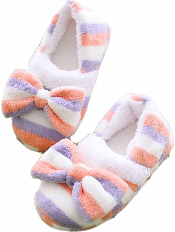 Women's Cute Bowknot Plush Slipper House Slipper
