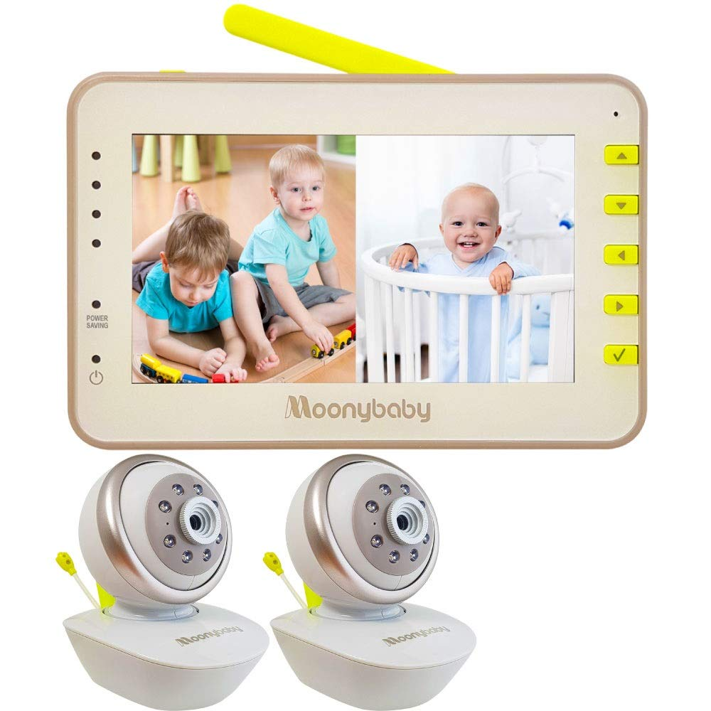 Moonybaby Split 55 Baby Monitor with Cameras Challenge the lowest price of ! Super beauty product restock quality top! Japan ☆ Vid 2 Screen