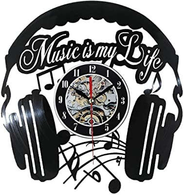Timelike Vinyl Record Wall Clock, 3D Frameless CD Wall Clock Unique Creative Theme Gift Home