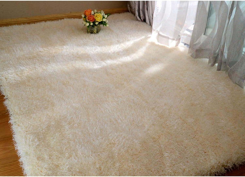 Modern Home Stretch Yarn Carpet Living Room Coffee Table Carpet Bedroom Bedside Blanket Blanket Casual Study (color   Beige)