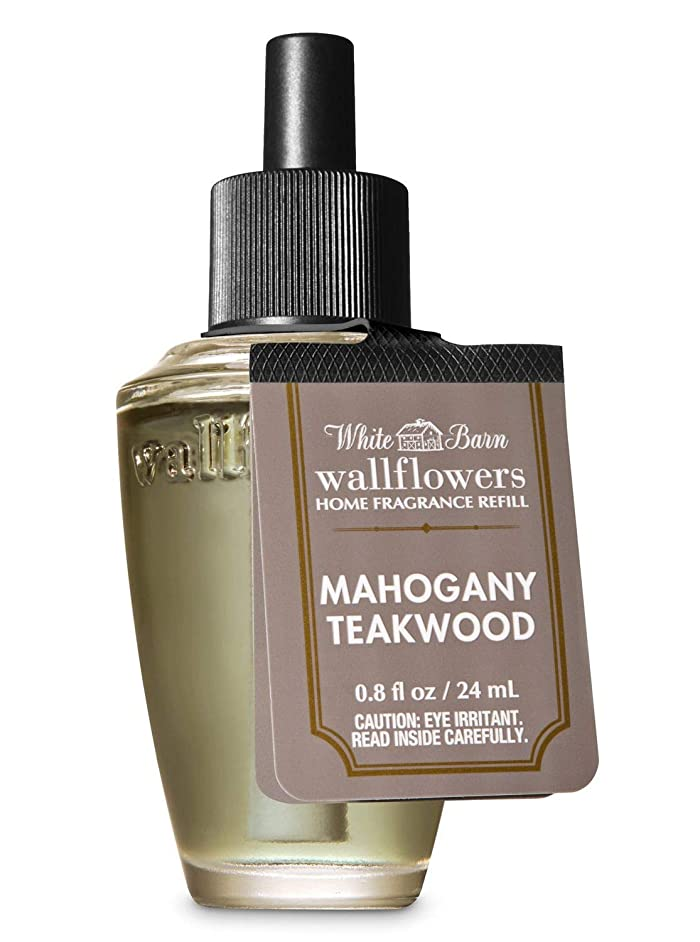 電球水分ご近所【Bath&Body Works/バス&ボディワークス】 ルームフレグランス 詰替えリフィル マホガニーティークウッド Wallflowers Home Fragrance Refill Mahogany Teakwood [並行輸入品]