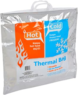 Insulated Bags - Thermal Hot Cold Bag (3 pack) Helps Keep Items Inside Hot or Cold For Hours - Reusable Aluminum Jumbo Sto...